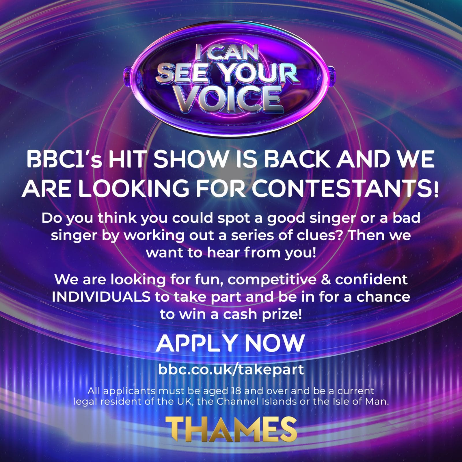 The worst singers in Manchester wanted for the next series of I Can See Your Voice, The Manc
