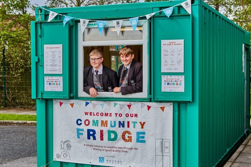 The first of 100 new 'community fridges' in the UK launched in Wythenshawe, The Manc