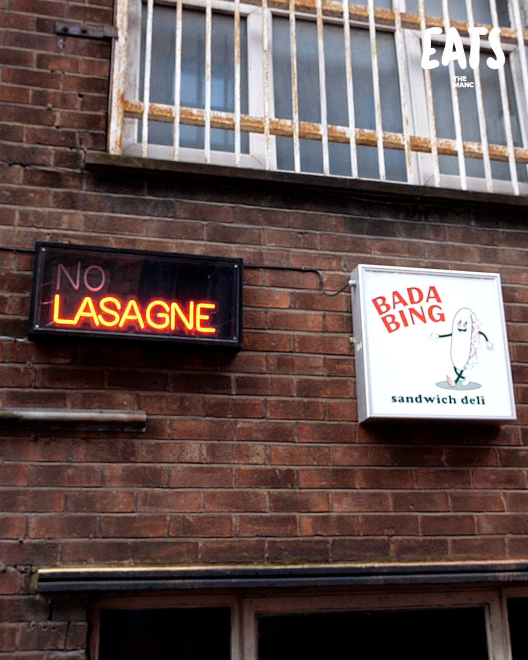 Inside the lasagne speakeasy and sandwich shop on the outskirts of Ancoats, The Manc