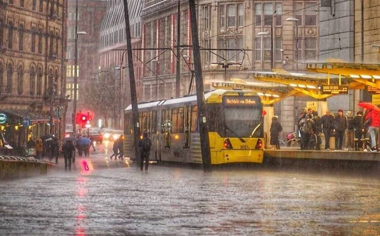 Britain to be battered by seven days of heavy downpours and potential thunderstorms, The Manc