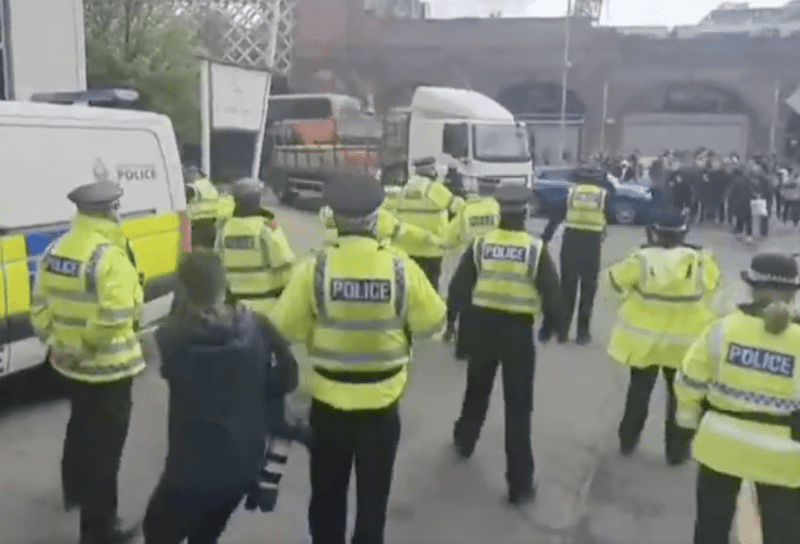 Man charged following Man Utd protest at Lowry Hotel, The Manc