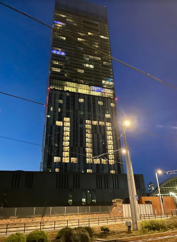 Hilton Deansgate hosting light display to celebrate return of hospitality, The Manc