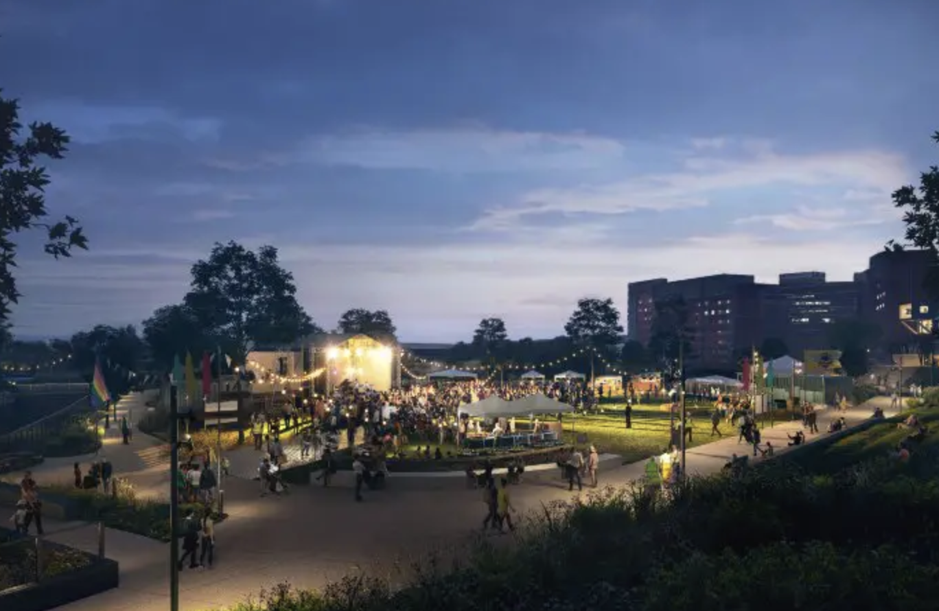 New images released of Mayfield Park in Manchester city centre, The Manc