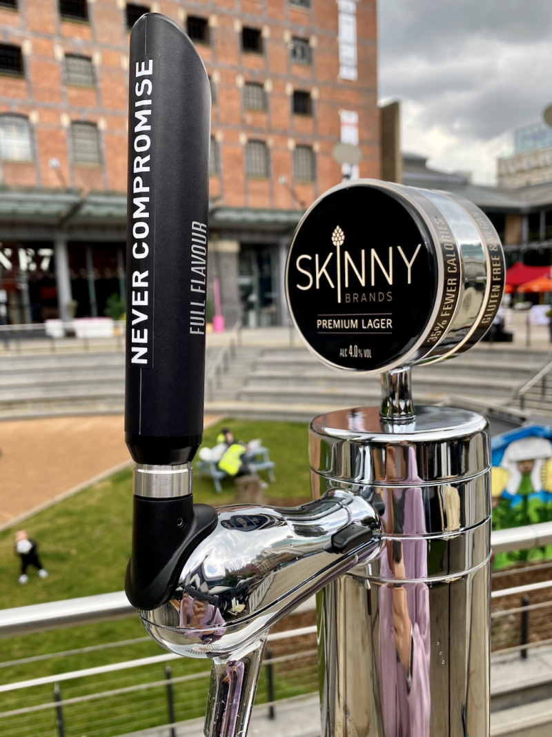 Skinny Lager is helping venues get back on their feet with £2,000 bar kit and 100 pints, The Manc