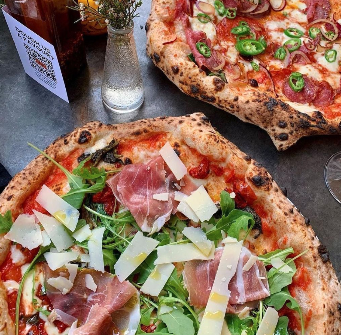You can get pizzas from Rudy's, American Pies and Double Zero for 6p on Deliveroo today, The Manc