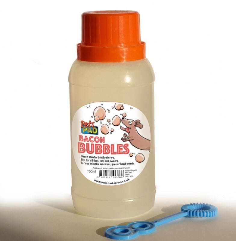 You can now blow bacon scented bubbles for your dog, The Manc