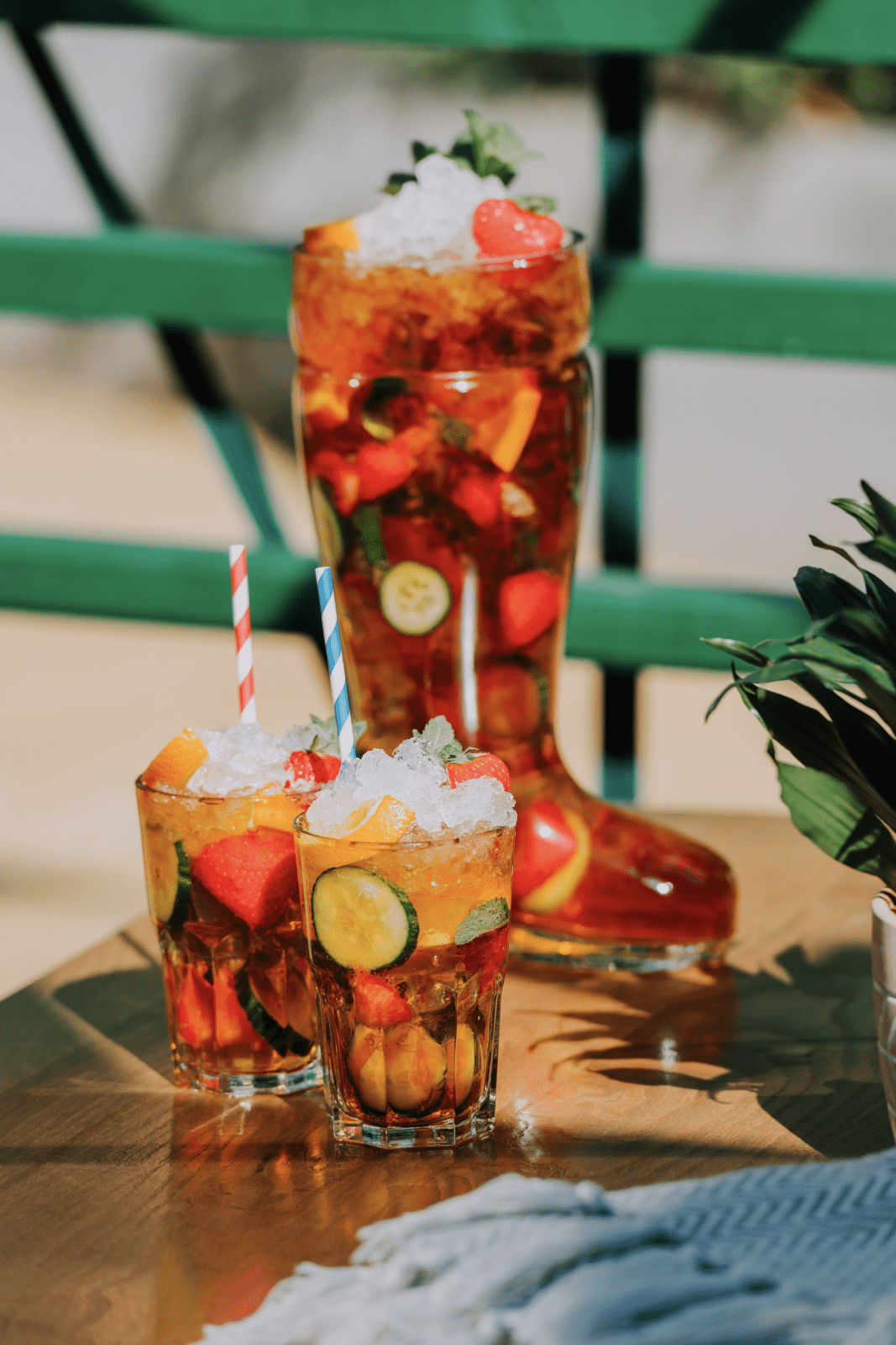 The Lawn Club in Manchester reveals giant welly boot Pimms drink, The Manc