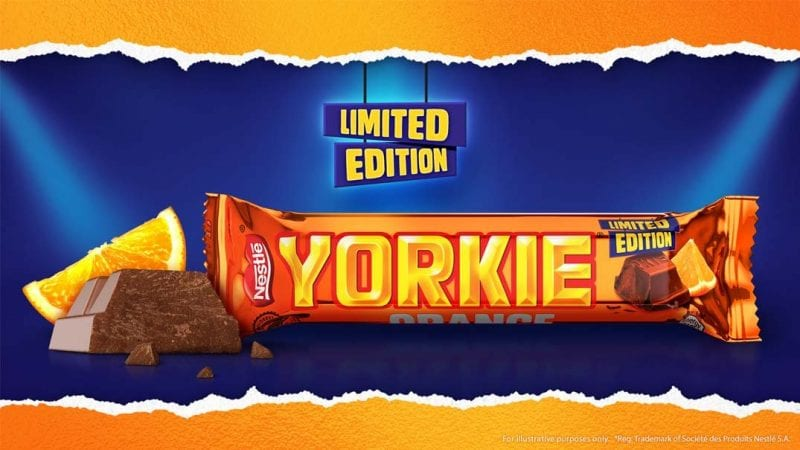 There's a new limited edition Orange Yorkie bar and you can grab them from B&M, The Manc