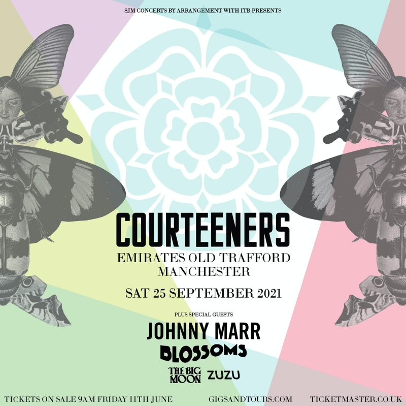 The Courteeners to play huge comeback gig at Old Trafford Cricket Ground with Johnny Marr and Blossoms, The Manc
