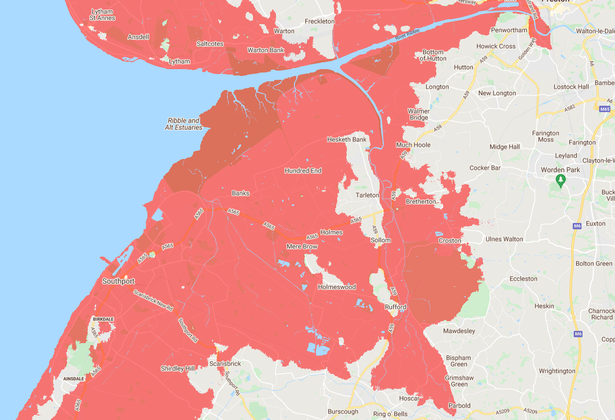 The North West towns that could end up underwater by 2050 because of rising sea levels, The Manc