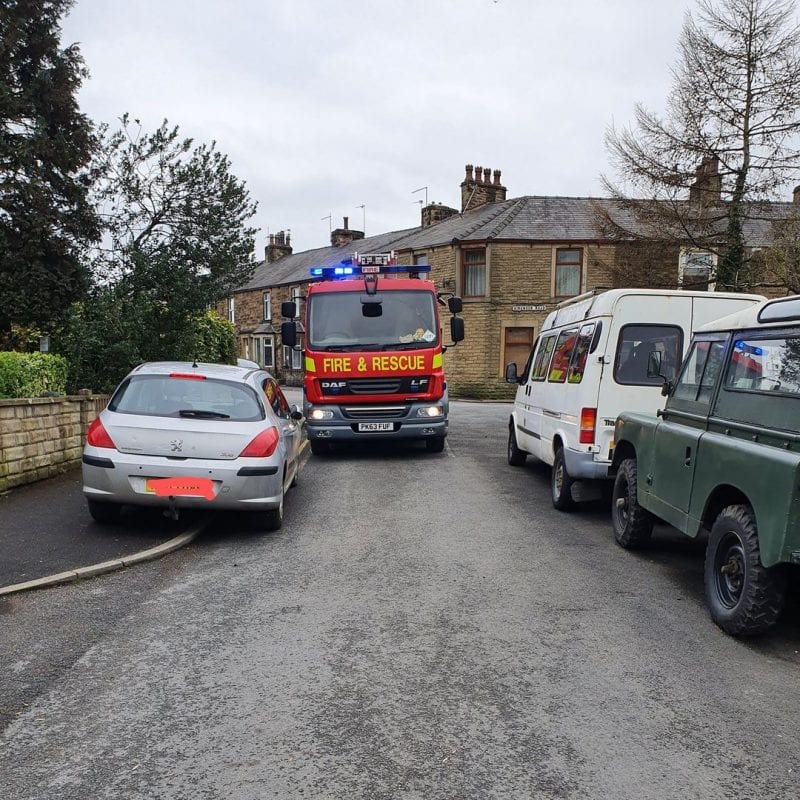 Lancashire Fire Service hits out at 'inconsiderate parkers' in Facebook post, The Manc