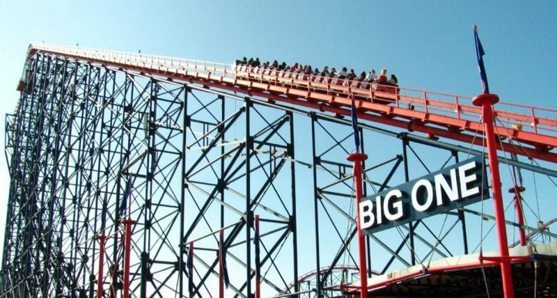 Man arrested after climbing up The Big One in Blackpool, The Manc