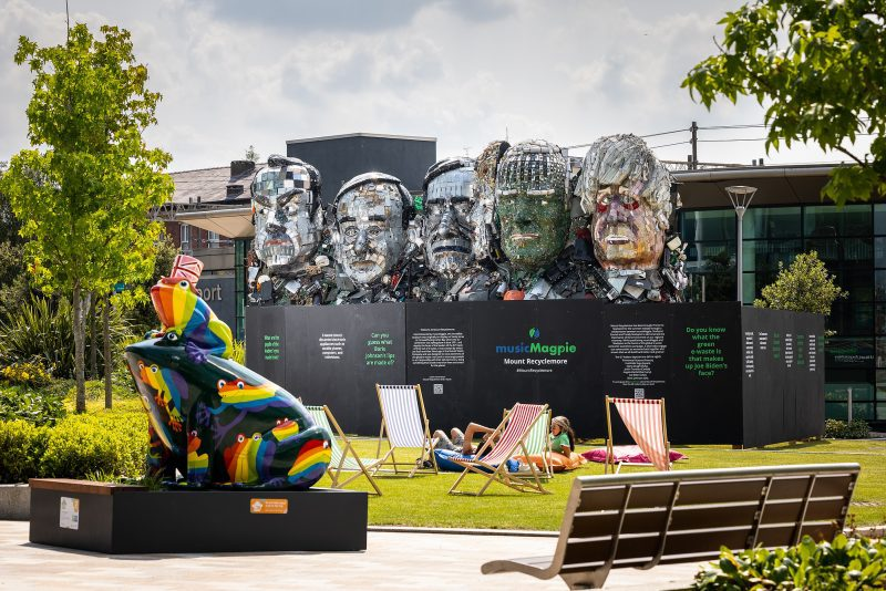 What is 'Mount Recyclemore'? The sculpture of heads that's appeared in Stockport, The Manc