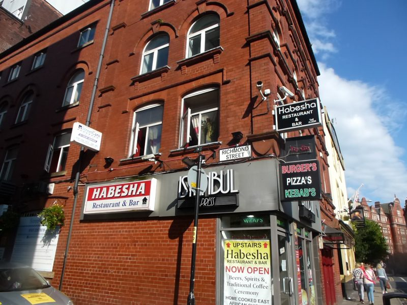 The Ethiopian restaurant hidden above a takeaway in Manchester's gay village, The Manc