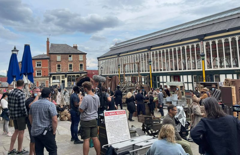 Stockport turns into 1830s London for filming of new BBC series, The Manc