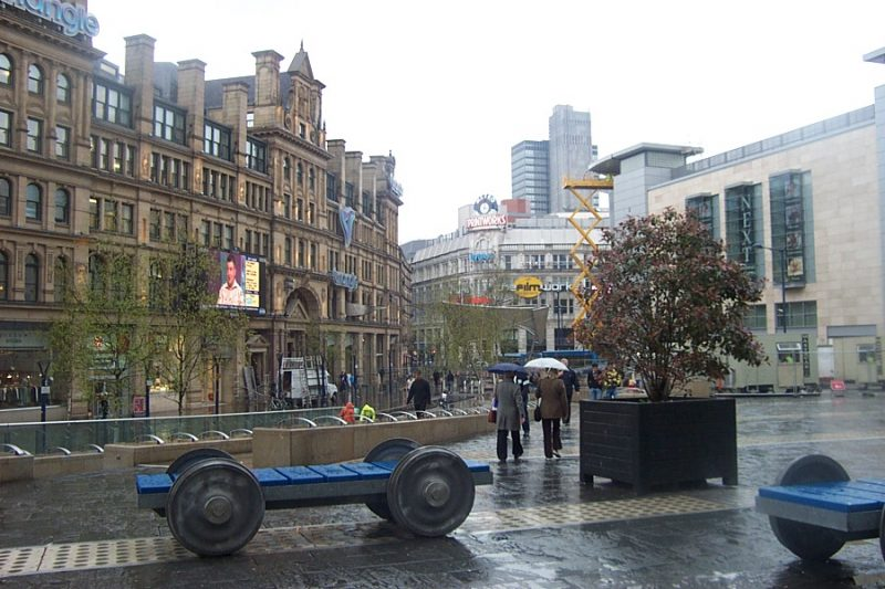 Councillor vows to catch culprit who put washing up liquid in Exchange Square fountain, The Manc