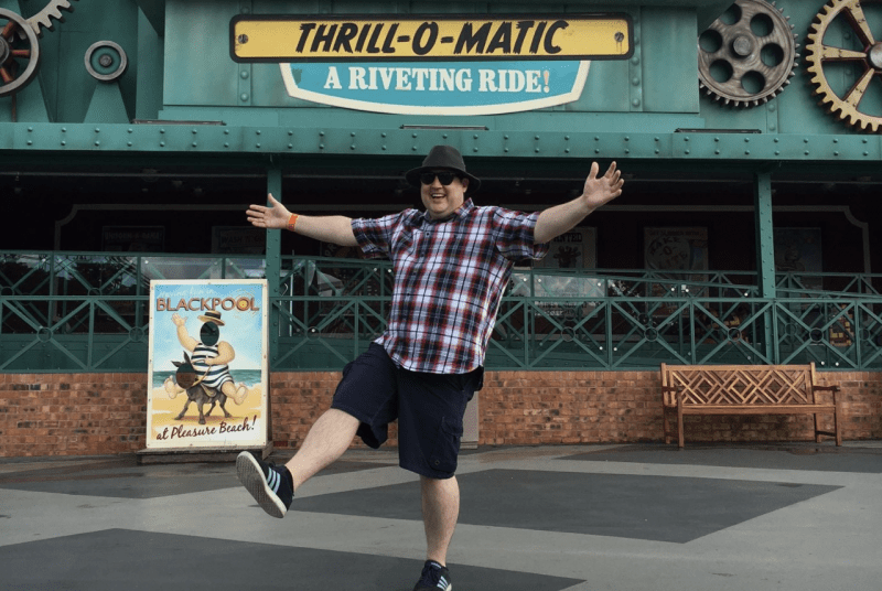 Peter Kay having the best time at Blackpool Pleasure Beach is everything, The Manc