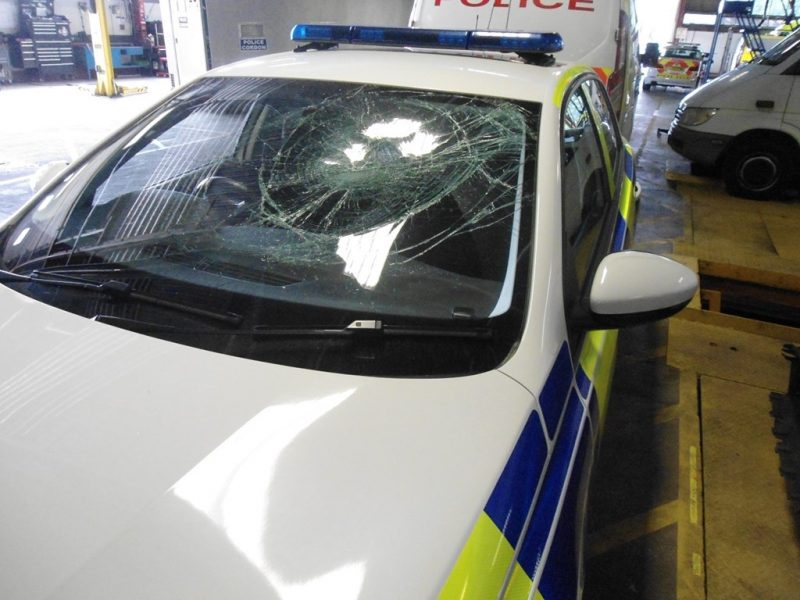 Police car windscreens smashed and tyres slashed at Boggart Hole Clough party, The Manc