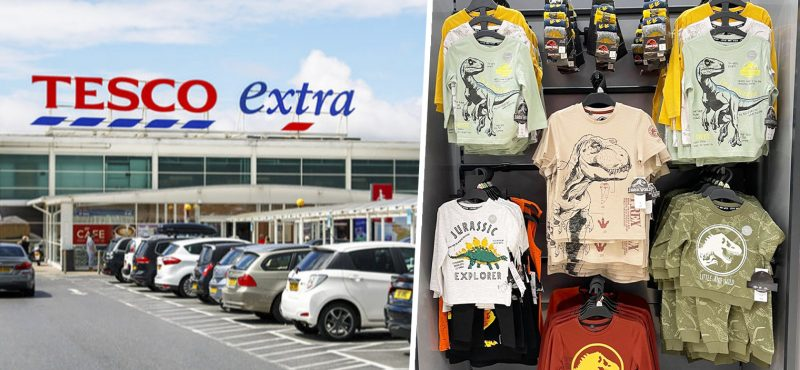 A Jurassic Park children's clothing range has been spotted in Tesco, The Manc
