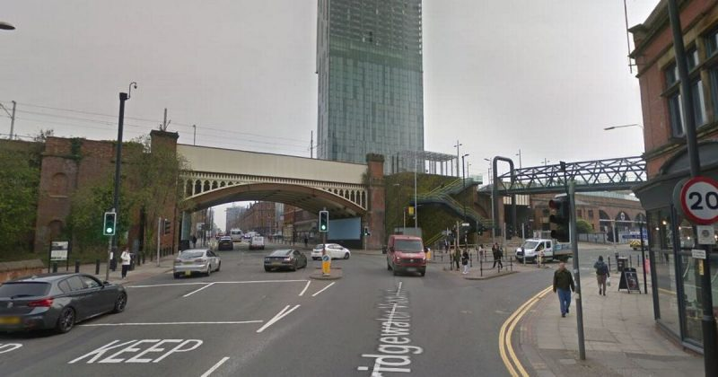 Heavy police presence on Deansgate due to ongoing incident, The Manc