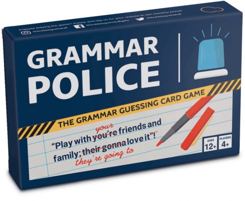 There's a new 'grammar police' card game you can play with your mates, The Manc