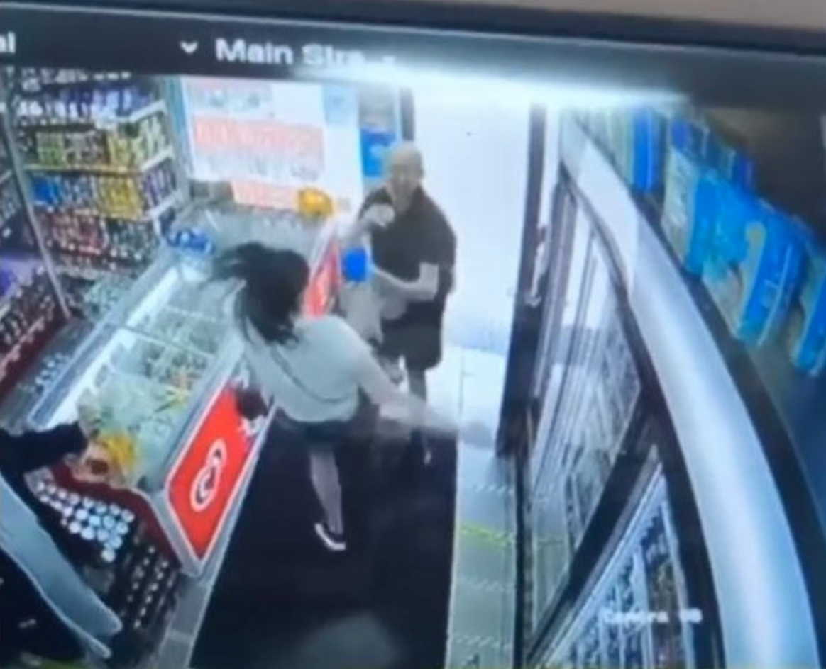 Preston mum caught on CCTV karate kicking man out of shop after he made 'indecent remarks', The Manc