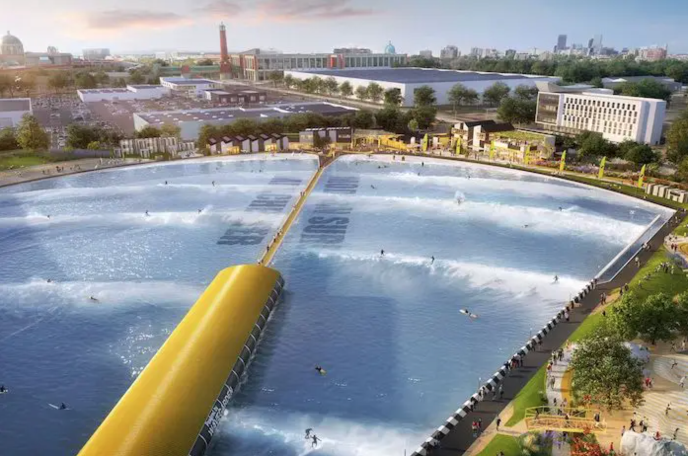 Plans officially approved for new £60 million surfing lagoon in Trafford, The Manc