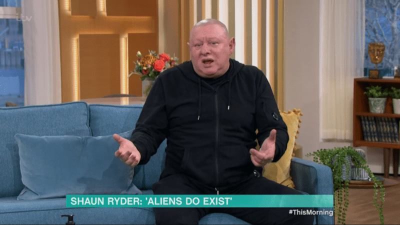 Shaun Ryder branded as 'TV gold' after revealing his UFO and alien encounters on This Morning, The Manc