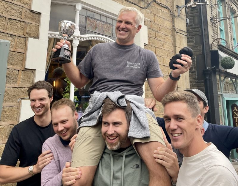 Man becomes two-time World Black Pudding Throwing champion in Ramsbottom, The Manc