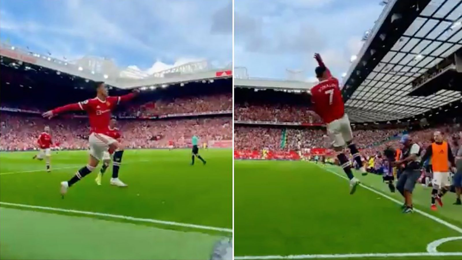 Manchester United fan falls on pint glass and almost loses leg celebrating Ronaldo goal, The Manc