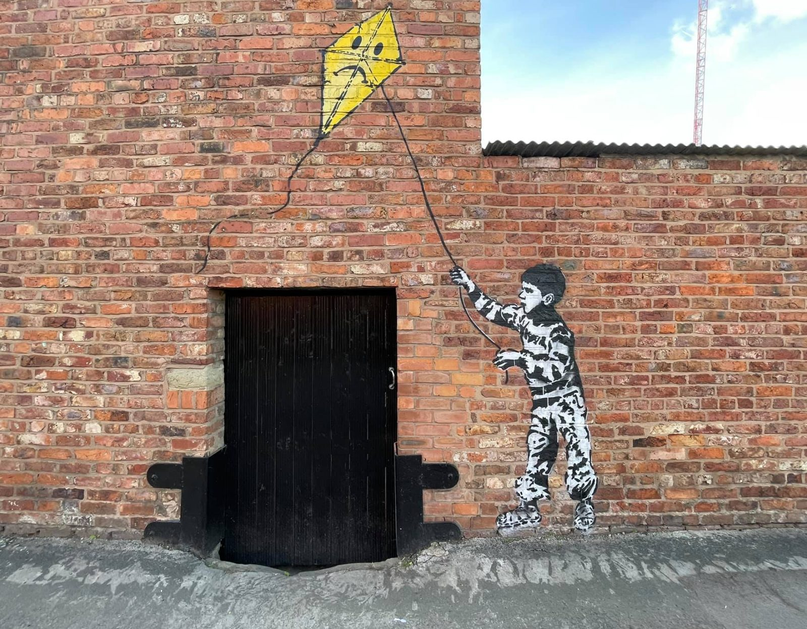 This is the real artist behind that 'Banksy' street art mural in Stockport, The Manc