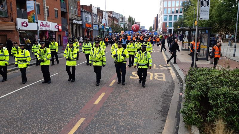 Thousands protest as Conservative Party Conference kicks off in Manchester, The Manc