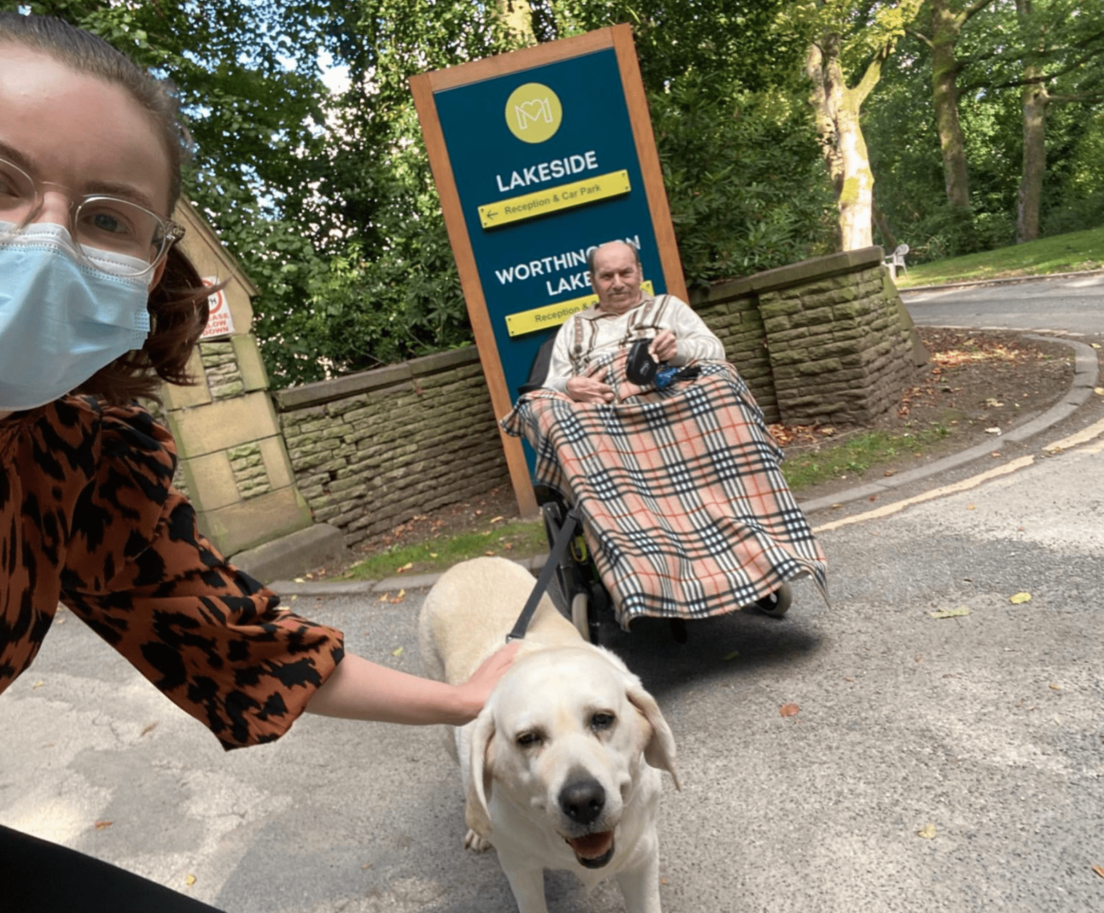 Manchester care home resident reunited with his beloved dog after two years, The Manc