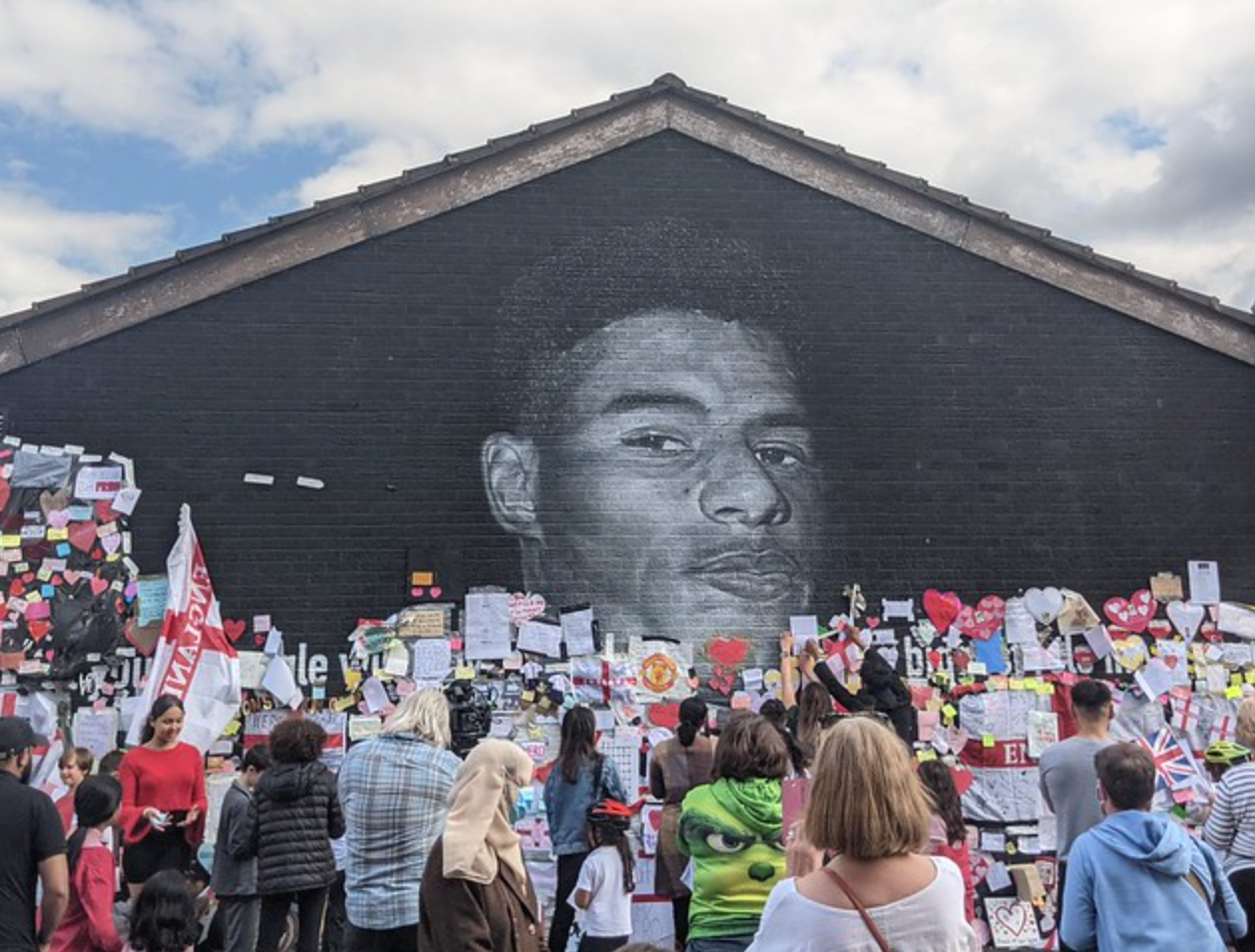 Did you know you can now see the messages on the Marcus Rashford mural up close on Google Street View?, The Manc