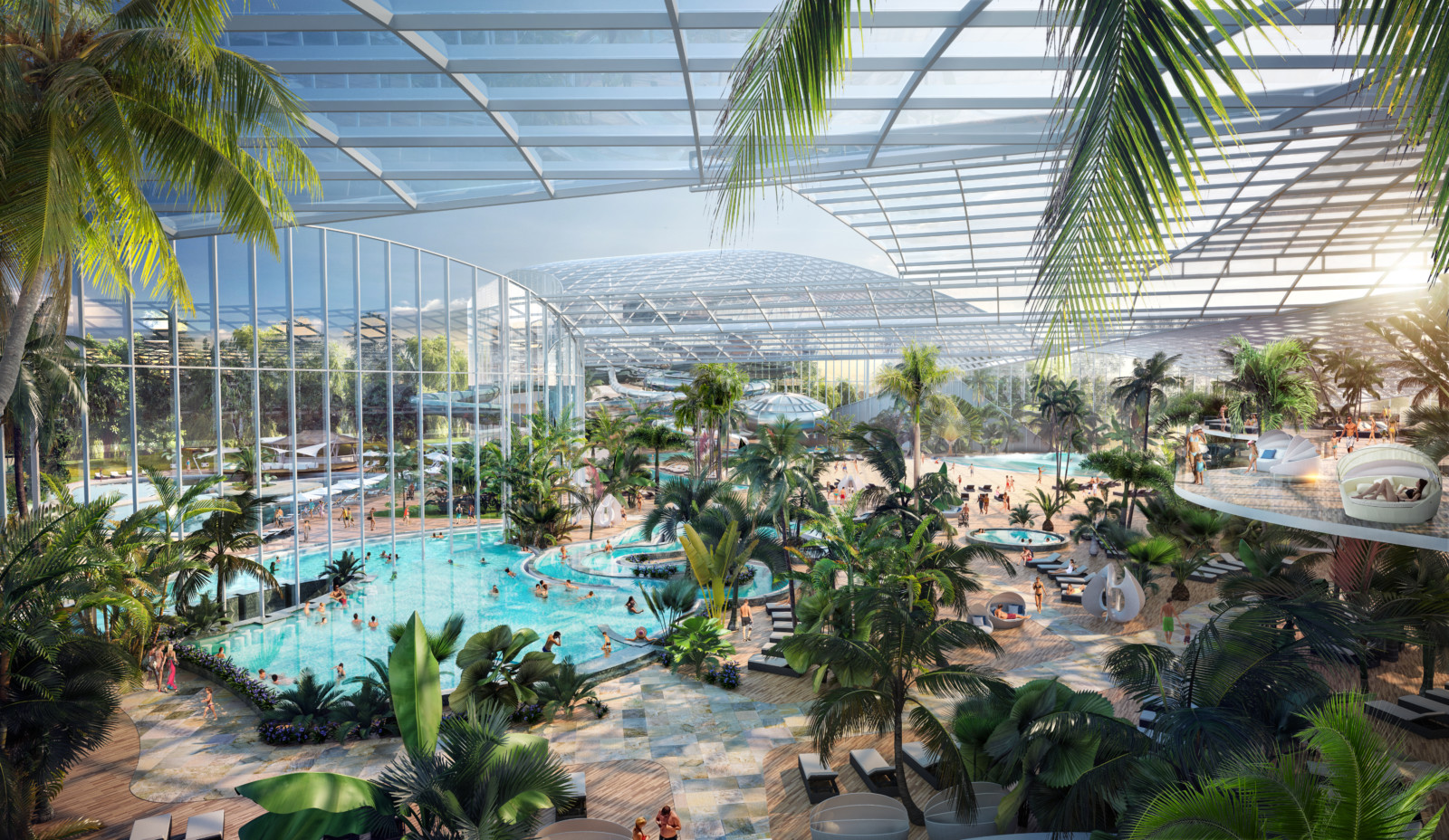 A sneak peek inside the waterpark resort with 25 pools and 35 slides opening in Trafford, The Manc