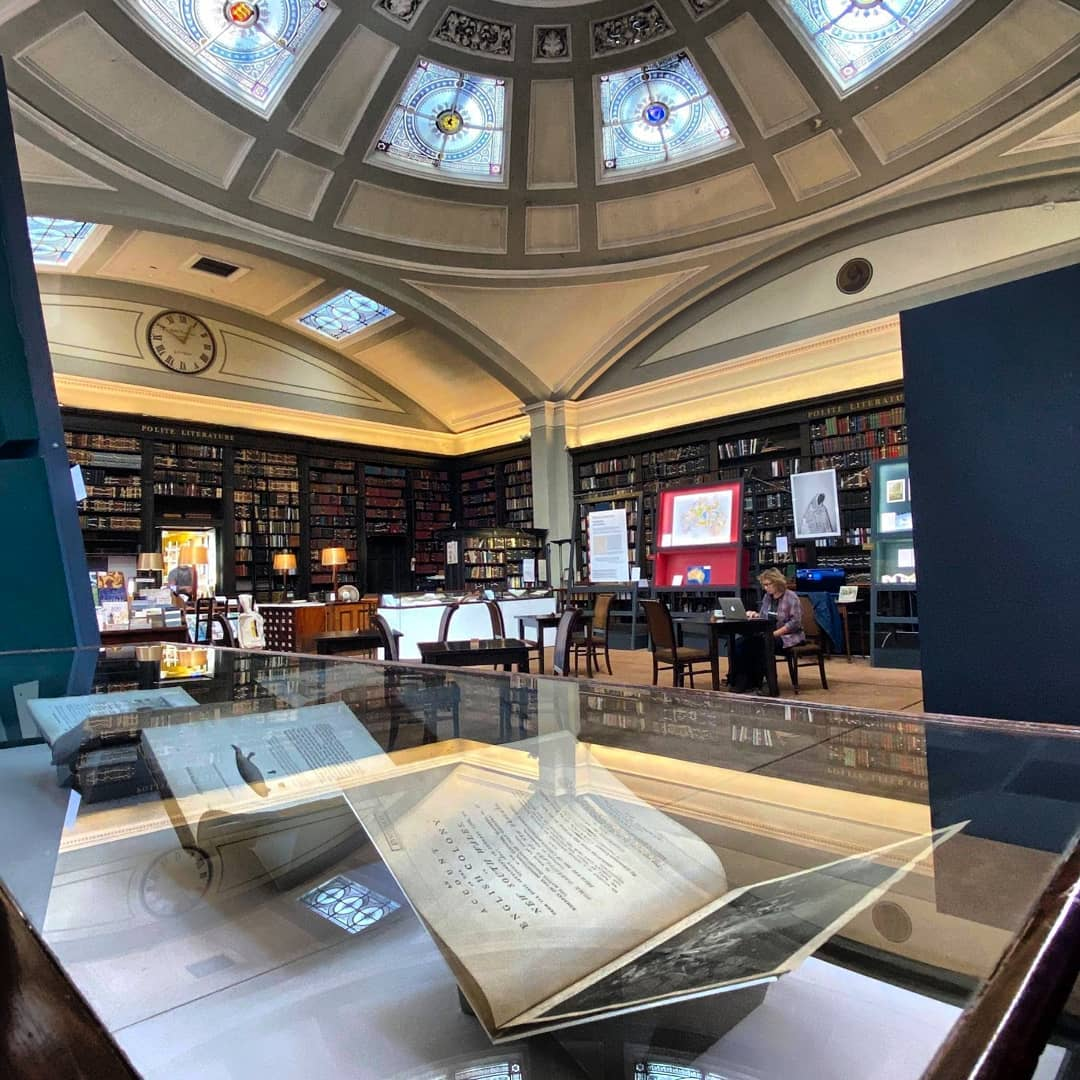 The beautiful Manchester library hidden above a pub near Piccadilly Gardens, The Manc